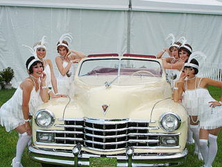 1947 Caddy with Flapper Girls