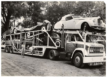 Moving the family and car collection to Orlando, Florida in August of 1971