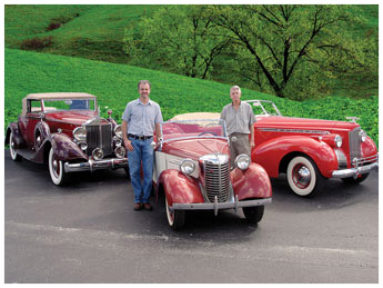 Larry & Darrel in September 2008 with the first three collector cars from 46 years ago.